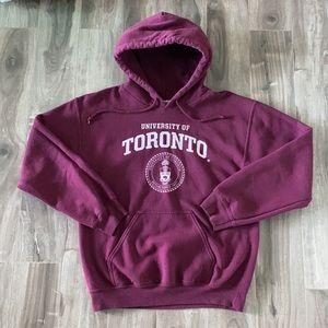 Unisex UofT oversized hoodie - burgundy